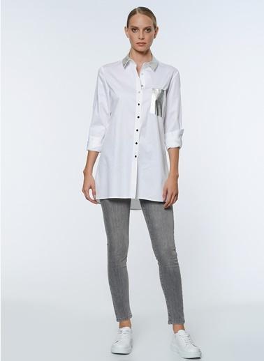 Cep Detaylı Uzun Gömlek-Que